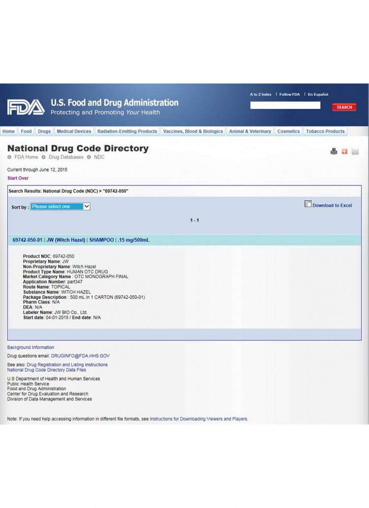 FDA(JW-SHAMPOO)