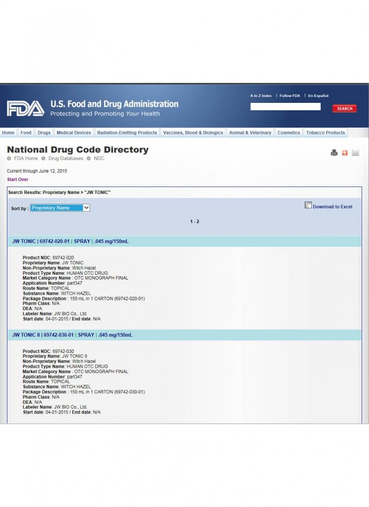 FDA(JW-TONIC)