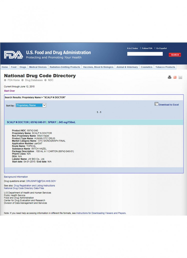 FDA OTC Registration